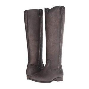 Frye Cara Tall Smoke Boots 6.5